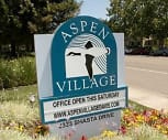 Sign, Aspen Village