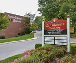 Lansdowne Towers Apartments, Upper Darby Senior High School, Drexel Hill, PA