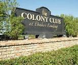 Sign, Colony Club at Drakes Landing