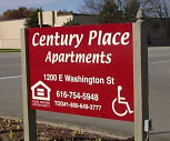Sign, Century Place