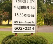 Community Signage, 2412 Azalea Garden Rd