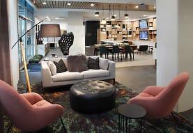 living room featuring tile flooring, Avalon Meydenbauer