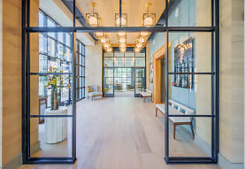 building lobby with parquet floors and natural light, Element 29