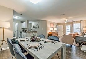 dining room featuring a ceiling fan, hardwood floors, natural light, and dishwasher, Azalea Ridge