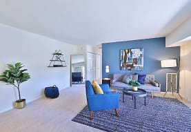 living room with carpet, Mount Vernon Square Apartments