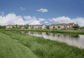 property view of water with a large lawn, Vero Green