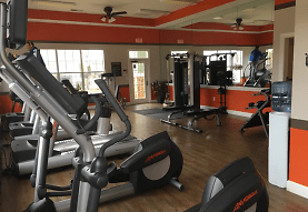 workout area featuring hardwood floors and a healthy amount of sunlight, Haven at Knob Creek