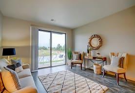 sitting room featuring hardwood floors and natural light, Latitude 43