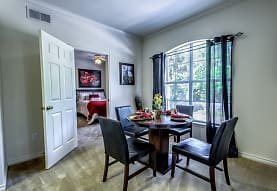 carpeted dining room with natural light, Audubon Lake Apartment Homes