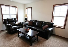 carpeted living room with plenty of natural light, Tioga Townhomes