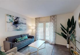 living room featuring hardwood floors, Pinecroft Place