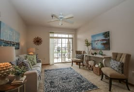 living area with a ceiling fan, carpet, and natural light, Prospect Commons
