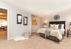 view of carpeted bedroom, City Side