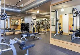 gym with carpet, Delancey at Shirlington Village