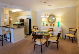 dining area with a breakfast bar area, refrigerator, microwave, and range oven, Sugar Mill