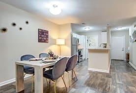 dining room featuring hardwood floors and range oven, Azalea Ridge