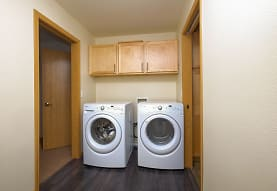 laundry area with tile floors and independent washer and dryer, Griffin Court Apartment Community