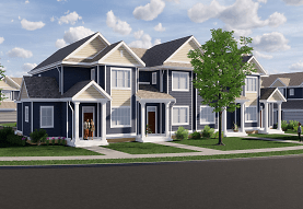 craftsman-style house with a front yard, The 85 at Maple Grove