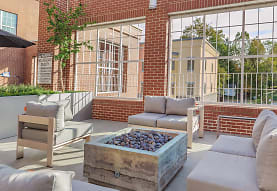 view of terrace featuring fire pit, Urban Station