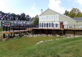 view of dock featuring an expansive lawn, Pier 39 Apartments & Townhomes