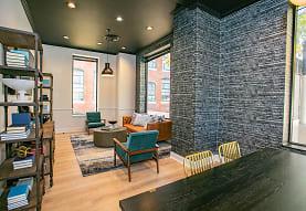dining room with hardwood flooring, Lofts at Riverwalk