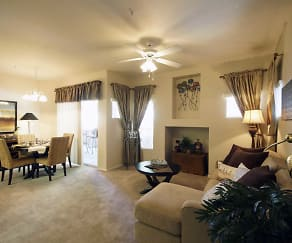 Living Room, Ventana Apartments
