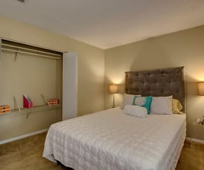 Bedroom, Hampton Chase Apartments