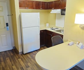 Kitchen, Furnished Studio - Columbus - Polaris