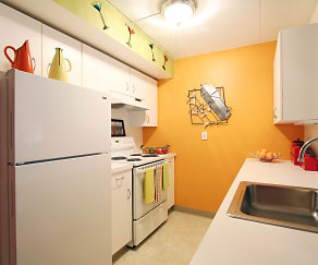 Kitchen, The Residences at Ninth Square
