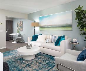 Living Room, Berkdale Apartments