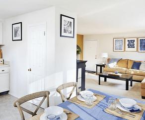 Living Room, Audubon Manor Apartments
