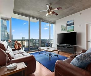 Living Room, 3324 Peachtree RD NE Unit #2905