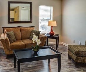 Living Room, Woodhaven Apartments