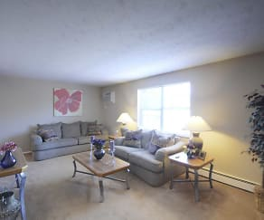 Living Room, Deer Creek Apartments
