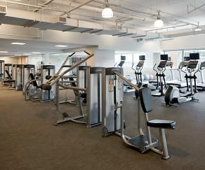 Fitness Weight Room, Liberty Towers