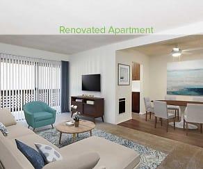 Living Room, eaves Huntington Beach