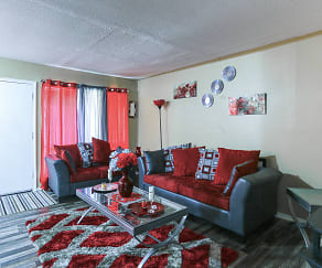 Living Room, Cherry Creek Apartments