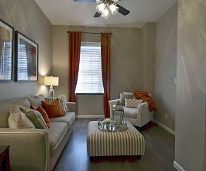Living Room, The Park at Cedar Lawn Apartments