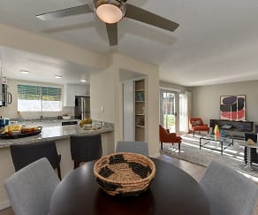 Dining Room, West Oaks Apartments