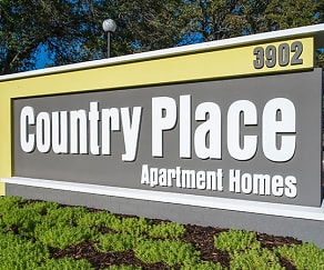 Community Signage, Country Place Apartments