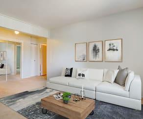 Living Room, Ellyn Crossing Apartments