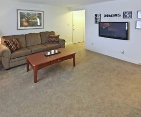 Living Room, Troy Gardens Apartments