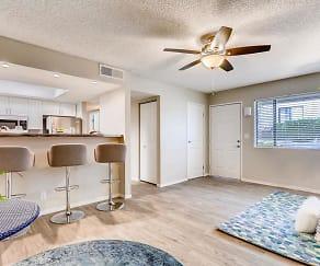 Living Room, V Lane Apartments