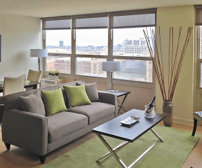 Apartment living area at 2101 S. Michigan Apartments, 2101 South Michigan Apartments