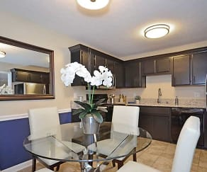 Dining Room, The Flats at Hurstbourne