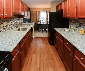 Kitchen, Montgomery Manor Apartments & Townhomes