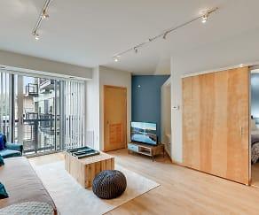 Living Room, Blue Apartments