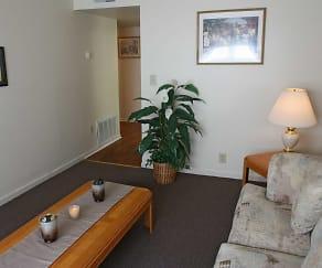 Living Room, Skyline Gardens Apartments