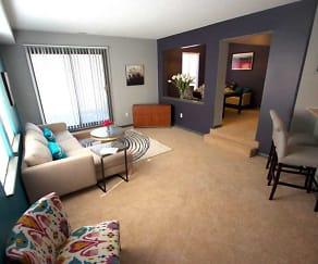 Living Room, Landmark Apartments & Townhomes