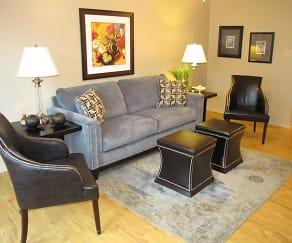 Living Room, Creekwood Townhomes